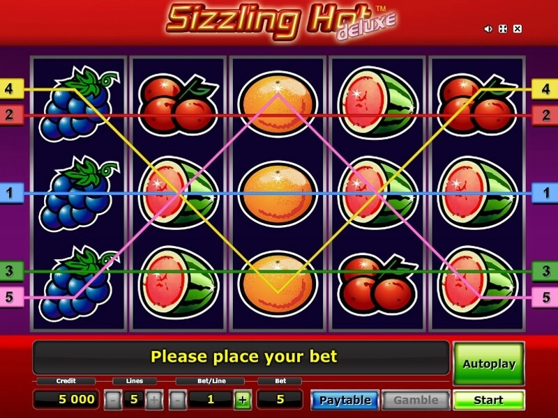 sizzling hot star games