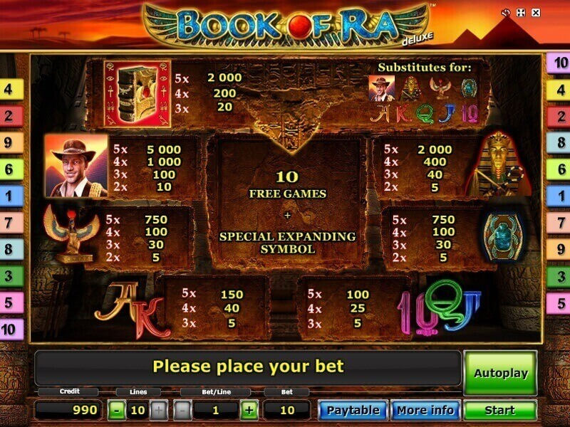 online casino sites book of ra classic