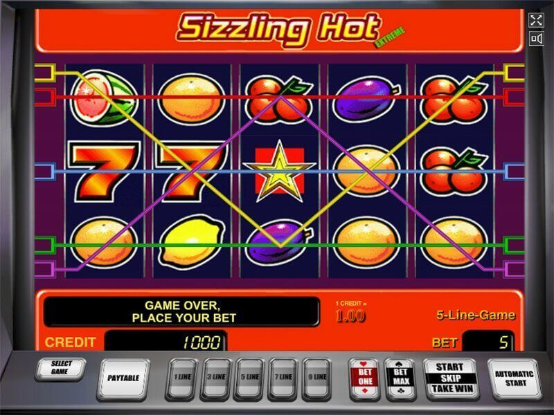 sizzling hot delux free play